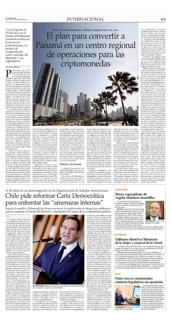 2021-09-18    5: International    A (5R41205G) – El Mercurio.com